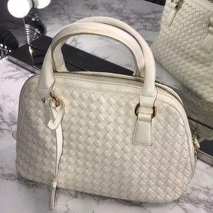 White Bottega Veneta style Forever 21 Handbag